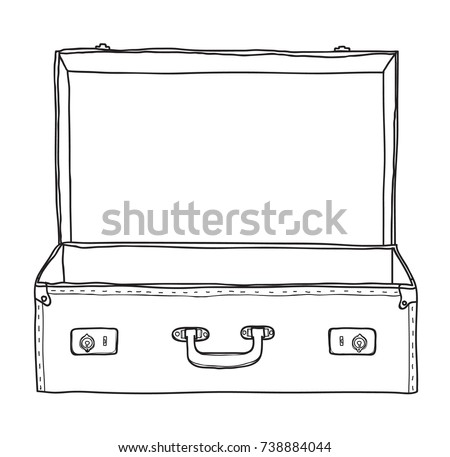 Suitcase vector elements download free vector art stock suitcase vintage empty suitcase hand drawn vector line art illustration pronofoot35fo Images