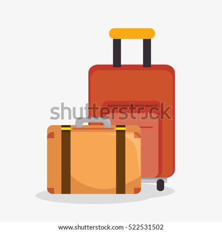 suitcases travel isolated icon