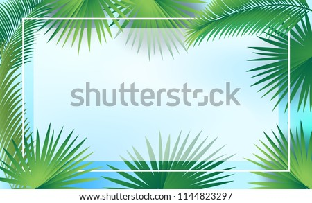 Shabbat greeting cards vectors download free vector art stock sukkot palm tree leaves frame date palm leafes border blue sky background sukkah m4hsunfo