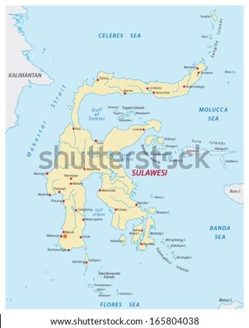 sulawesi map