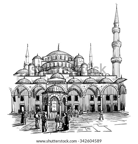 sultan ahmed mosque courtyard