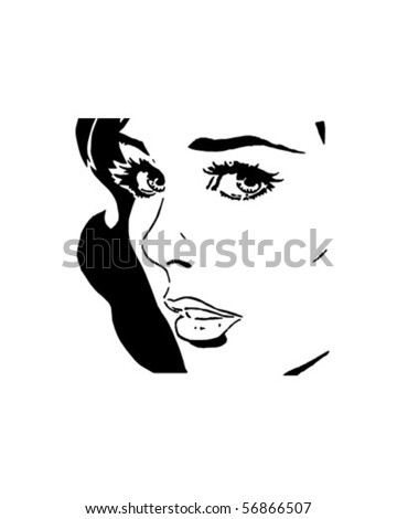 Sultry Woman - Retro Clip Art