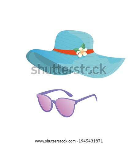summer accessories  hat and