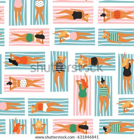 summer activity illustration in