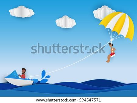 summer activity man playing