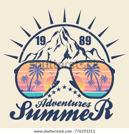 summer adventures   vector...