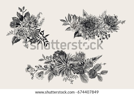 summer and autumn set floral
