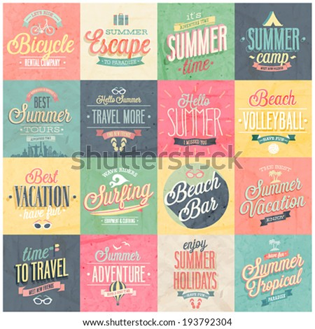 summer and travel set   labels