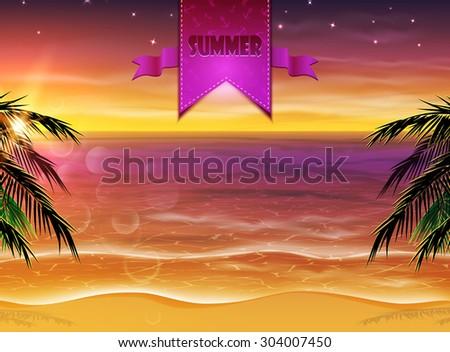 summer background evening