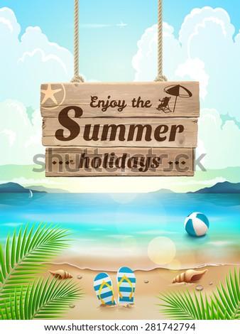 summer background in beach