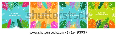 Summer background. Summer vacation for banner, poster and advertising.