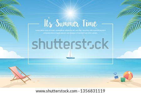summer background tropical