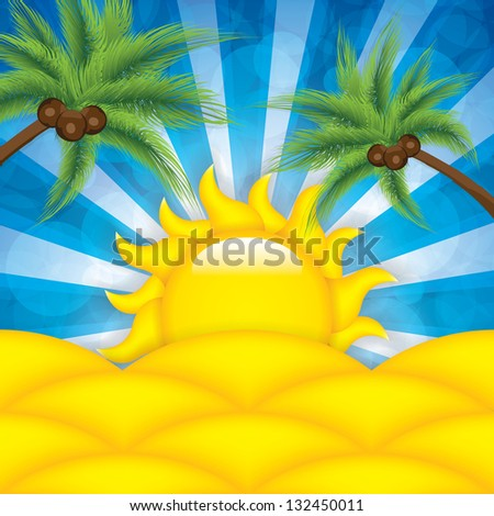 Summer background.Vector