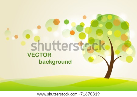 Summer  background with abstract tree