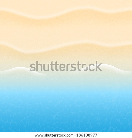 summer background with beach