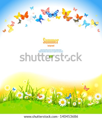 summer background with