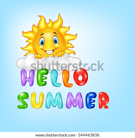 summer background with happy