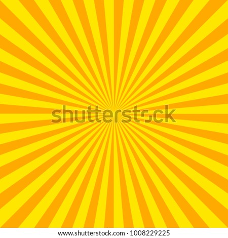 Summer background with orange yellow rays summer sun hot swirl with space for your message. Vector illustration EPS 10 for design element presentation, brochure layout page, packing label
