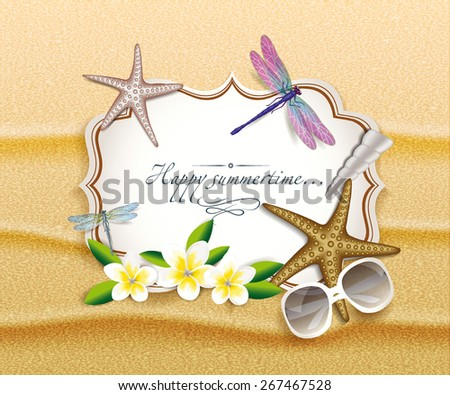 summer background with  sand