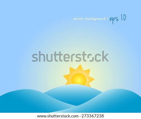 summer background with sun and