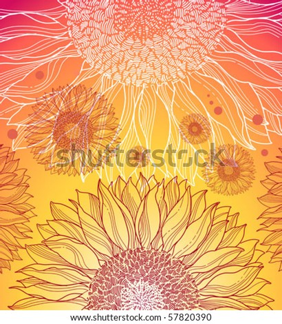 summer background with sunflowers