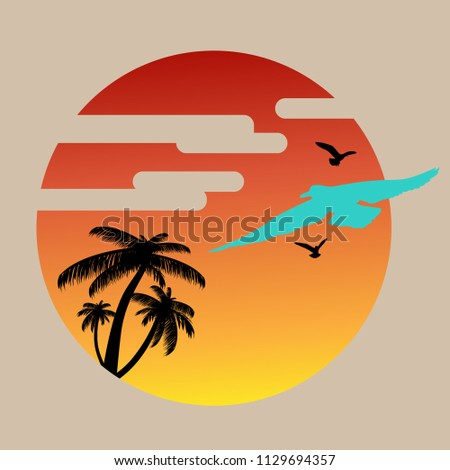 summer background with sunset