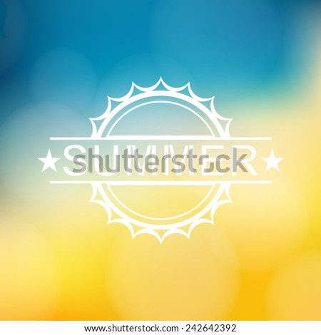Summer background with text - Vector