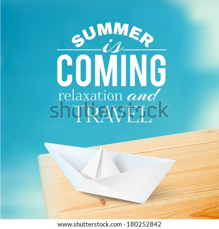 summer background with text