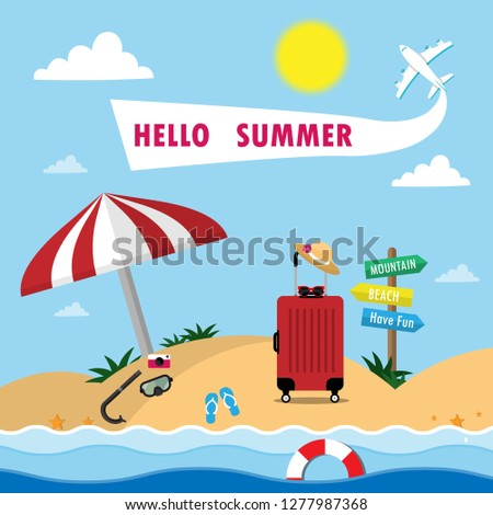 summer background with travel