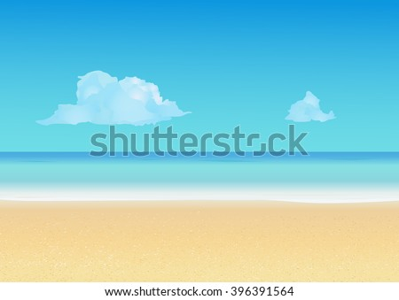 stock-vector-summer-background-with-tropical-beach-summer-vacation-seashore-resort-travel-background-vector