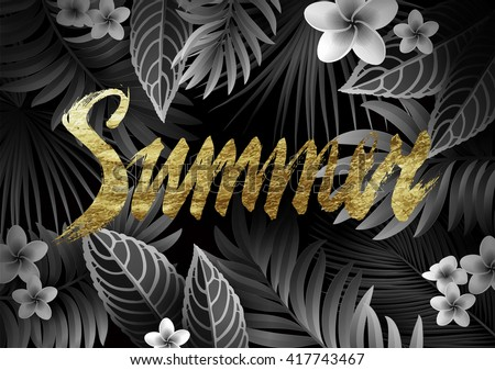summer background with tropical