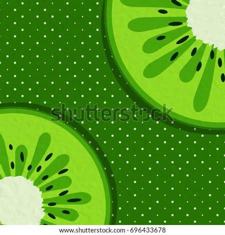 Summer background with watermelon fruit! Vector illustration.