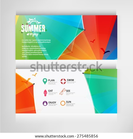summer banners business of travel design vector