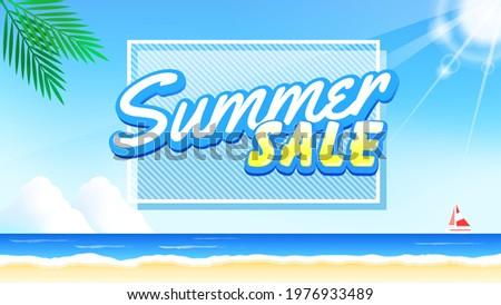 summer beach background image