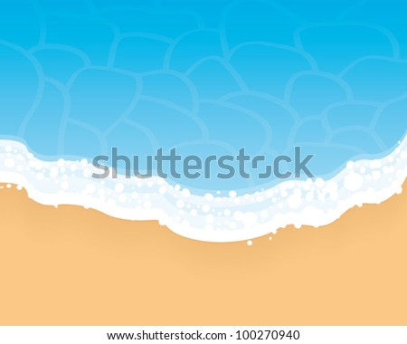 summer beach background vector
