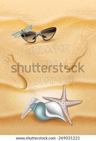 summer beach background with