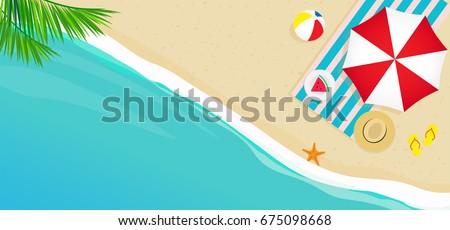 summer beach banner vector