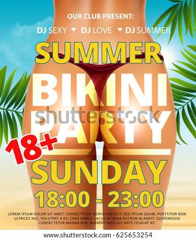 summer beach bikini or pool