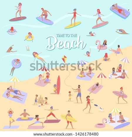 summer beach concept different