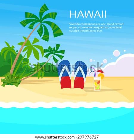 summer beach flip flops sand
