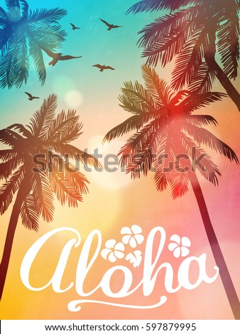 summer beach illustration aloha....