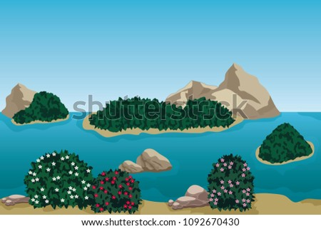 summer beach landscape scene