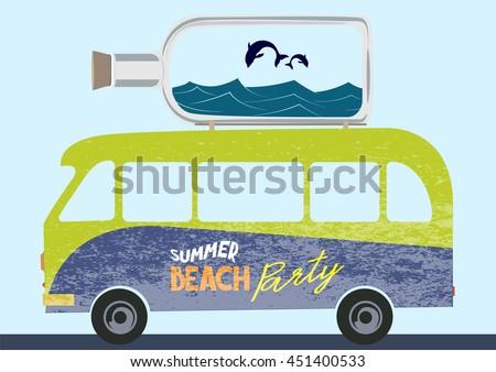 summer beach party concept...