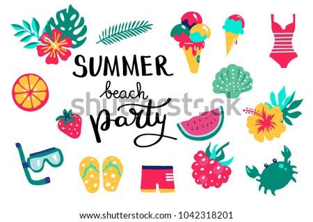 57f14b4c641 Vector Summer Icon Pattern - Download Free Vector Art