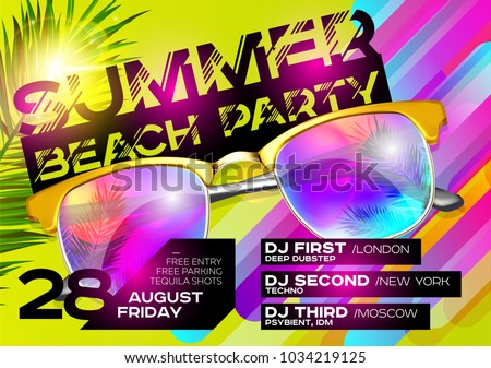 summer beach party poster for