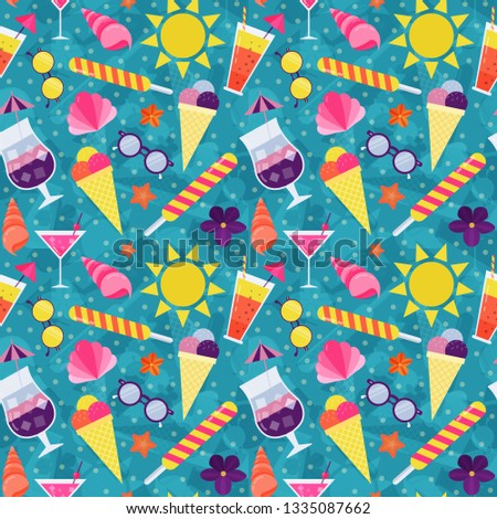 b05e66dcce911 Summer beach pattern for wrapping paper and print on textile or fabric. Sea  holidays seamless