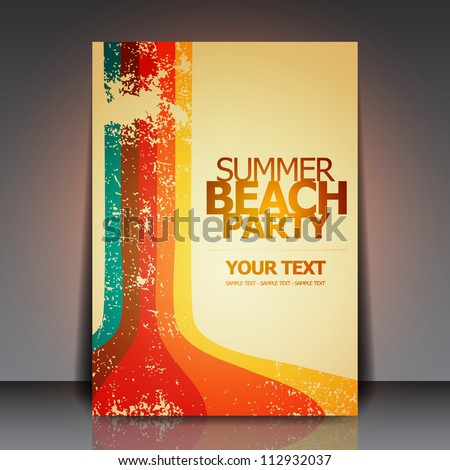 Summer Beach Retro Party Flyer | EPS10 Vector Design