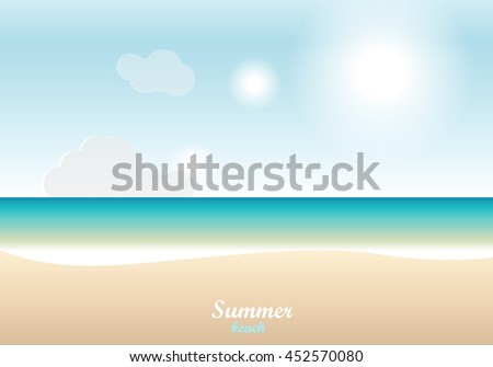summer beach  sand and sea and