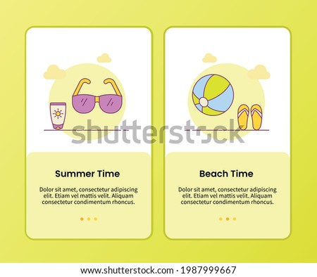 summer beach time campaign for
