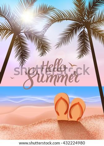 summer beach travel vocation